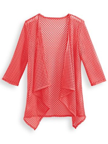 Two Twenty® Novelty Mesh Cardigan - Image 0 of 1