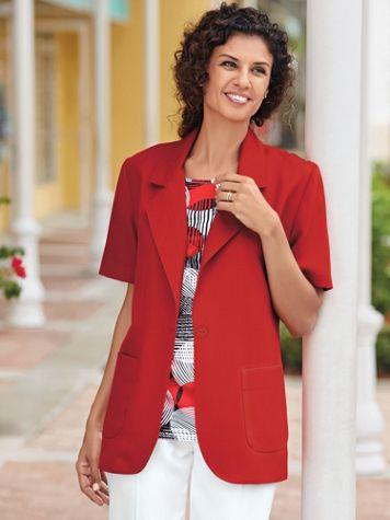 Short-Sleeve Poplin Blazer - Image 1 of 1