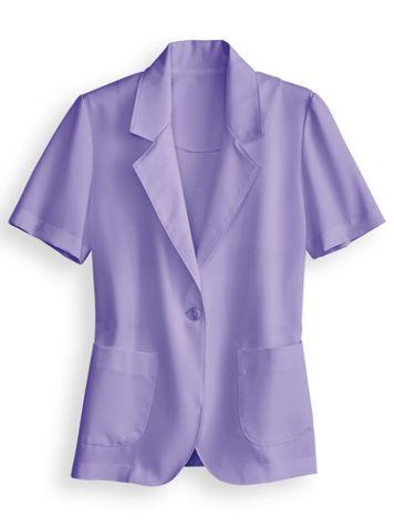 Short-Sleeve Poplin Blazer - Image 2 of 2