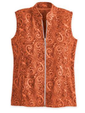 Print Scandia Fleece Zip-Front Vest