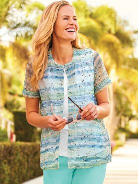 Two Twenty® Print Flyaway Cardigan