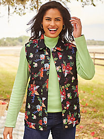 Printed Quilted Vest