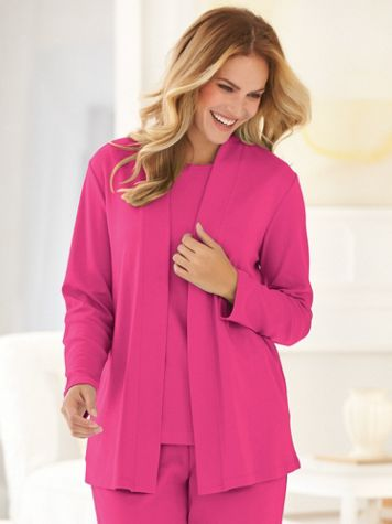 Essential Open-Front Cardigan - Image 1 of 10