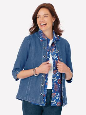 Two Twenty® Grommet Novelty Jacket