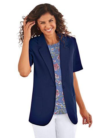 Short Sleeve No-Iron Blazer - Image 1 of 8