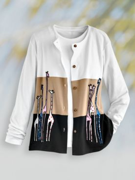 Novelty Embroidered Cardigan