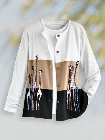 Novelty Embroidered Cardigan - Image 2 of 2