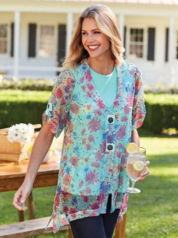 Two Twenty® Captiva Mesh Tunic Cardigan