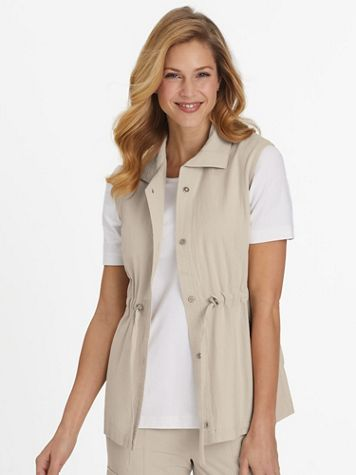 Crinkle Cotton Cargo Vest - Image 1 of 8