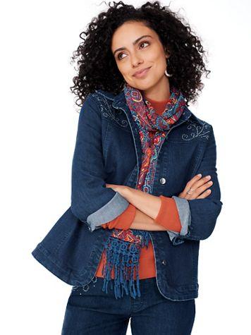 DenimEase™ Embellished Jacket - Image 2 of 3