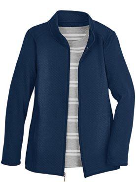 Quilted Zip-Front Jacket