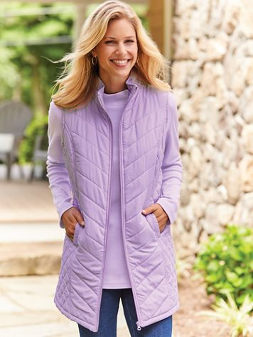 Longer-Length Quilted Vest - Image 1 of 5