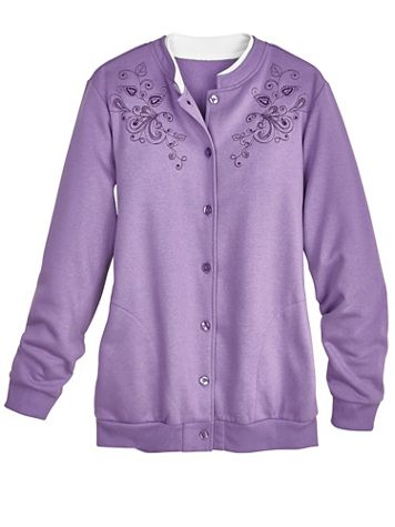 Embroidered Fleece Jacket - Image 1 of 6