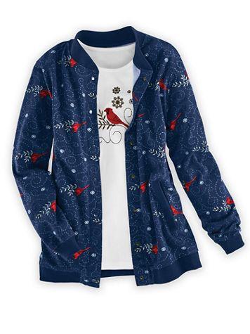 Print Fleece Jacket - Image 1 of 5