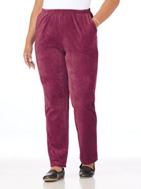 Ribbed Velour Pants