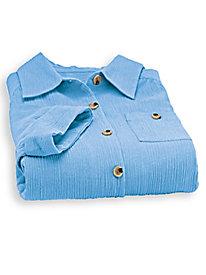 Crinkled Cotton Pants Set