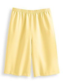 No-Iron Poly Plain Weave Bermuda Shorts