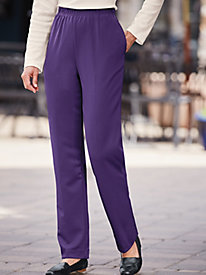 Plain Front Double Knit Pants