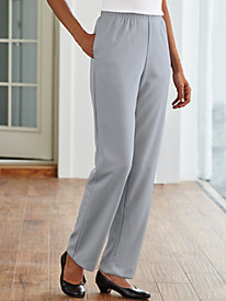 Double Knit Plain-Front Pants