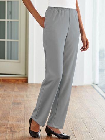 Double Knit Plain-Front Pants - Image 7 of 16