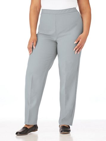 Elastic-Waist Bend Over® Dress Pants  - Image 1 of 12