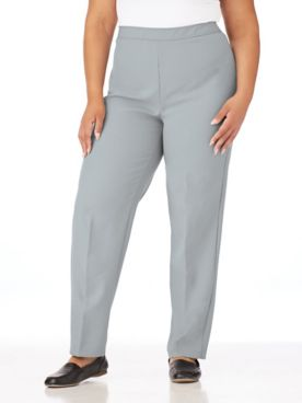 Elastic-Waist Bend Over® Dress Pants