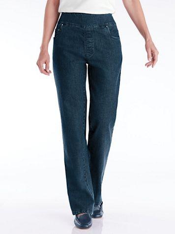 Flat Waist Wide-Leg Jeans - Image 1 of 9
