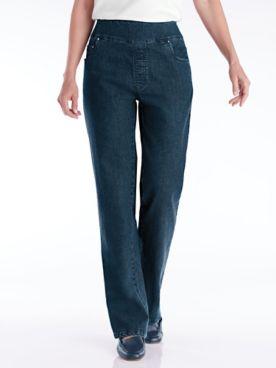 Flat Waist Wide-Leg Jeans