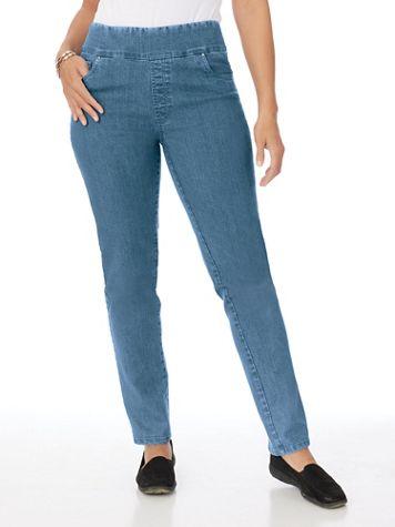 Flat Waist Embellished Jeans - Image 1 of 5