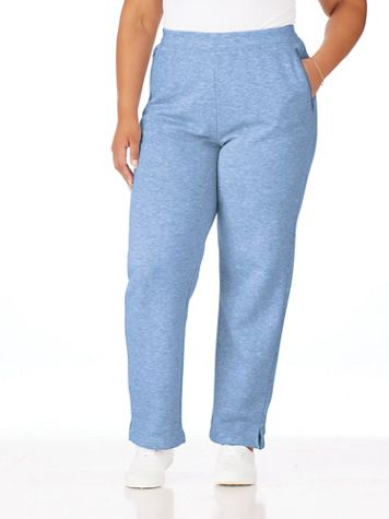 Zip-Pocket Pull-On Fleece Pants