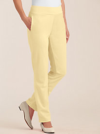 Double Knit Flat Waist Pants