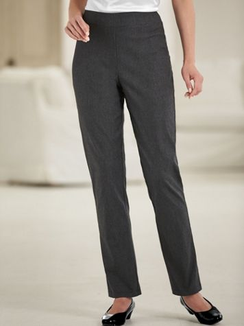 Silhouette Slimmers® Flat Waist Stretch Pants
