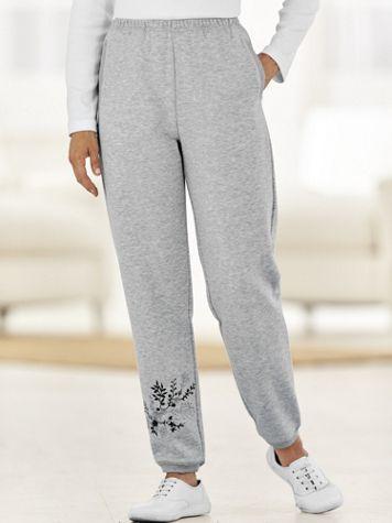Embroidered Fleece Pants - Image 1 of 1