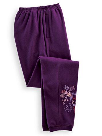 Embroidered Fleece Pants