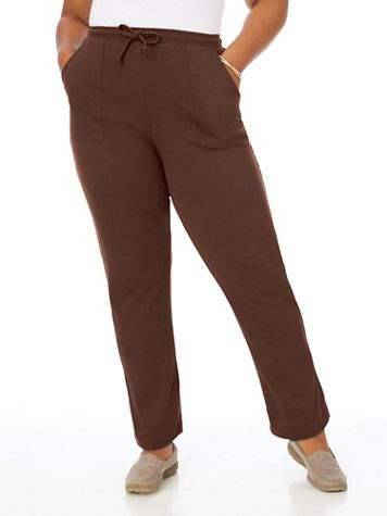 Essential Knit Drawstring Pull-On Pants - Image 1 of 10