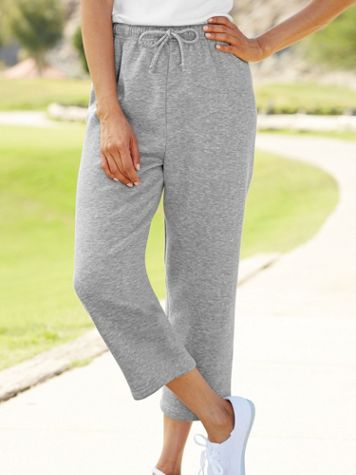 Better-Than-Basic Fleece Capris - Image 1 of 7