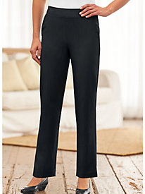 Silhouette Slimmers® Flat-Waist Stretch Pants