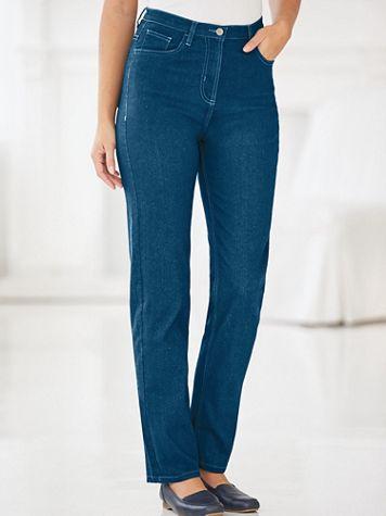 Knit Denim Comfort Pants - Image 0 of 2