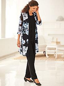 Elisabeth Williams® Duster Pants Set by Blair