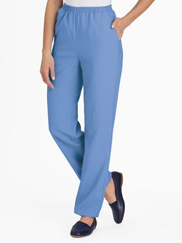 No-Iron Poplin Pants - Image 1 of 11
