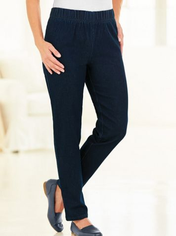 Denim-Eze Pull-On Jeans - Image 1 of 6