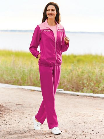 Embroidered 3-Piece Pants Set
