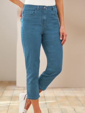 Knit Denim Comfort Capris