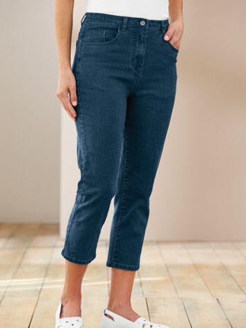 Knit Denim Comfort Capris - Image 3 of 3