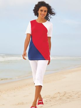 Colorblock Capri Set