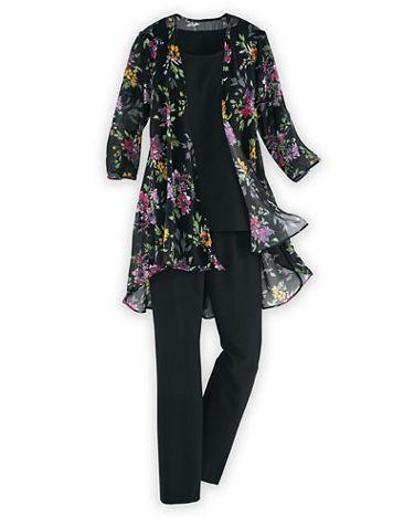 Elisabeth Williams® Three-Piece Duster Pants Set - Image 2 of 2