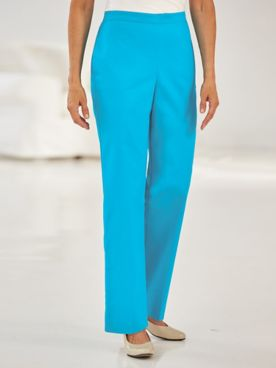 Alfred Dunner® Sateen Flat-Front Pants