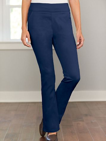 Bootcut Pull-On Stretch Pants - Image 1 of 2