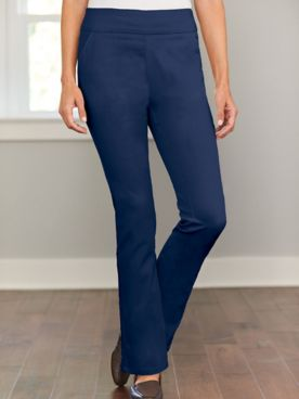 Bootcut Pull-On Stretch Pants