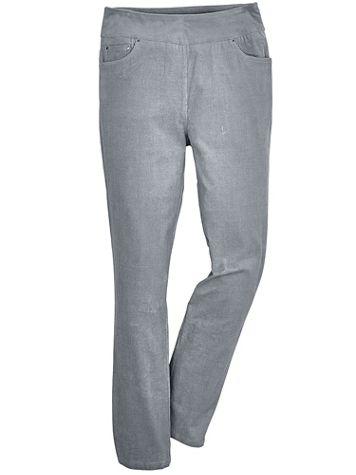 Flat-Waist Stretch Corduroy Pants - Image 1 of 5